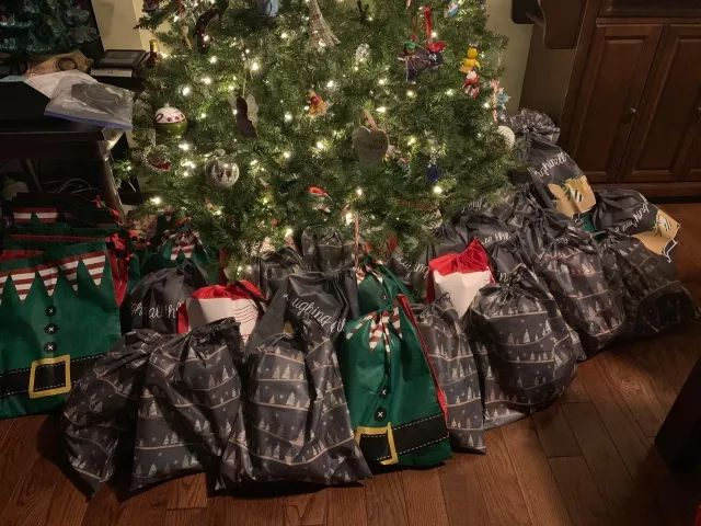 My wife found out that 60% seniors in nursing homes have no visitors and get nothing for Christmas. So she held a small fundraiser and put together 61 gift bags for a local nursing home. Each bag contains chapstick, lotion, tissues, a word search book a pen, and a blanket.