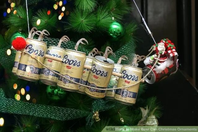 How to Make Beer Can Christmas Ornaments