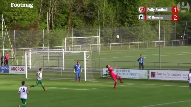 talented player kicks into net of his team