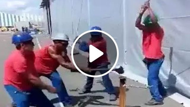 Workers Use Hammers Very Flexibly - Video & GIFs   hardworking workers, protective clothing, hammers, working tools