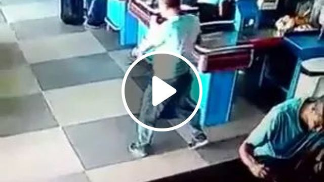 a man reacted quickly to a soda can in supermarket, men, reaction, fast, with soda cans falling, in supermarkets, talent