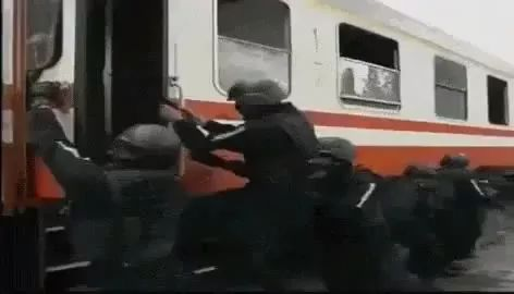 Soldiers are training to save people on trains - Video & GIFs | soldiers, practicing, saving people, on trains