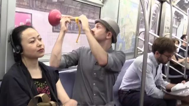 He is traveling by subway - Video & GIFs | man, male fashion, American travel, subway, long distance travel, satisfied