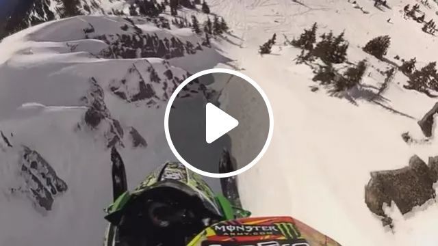 Flying snowmobile on high mountain, snow, ski, high, adventure, sports, winter