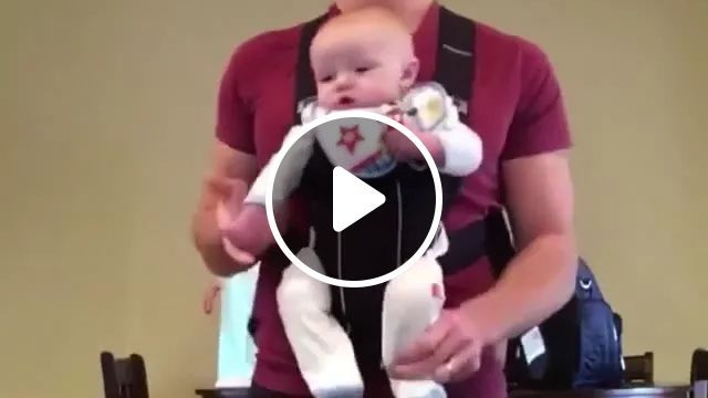 Baby Was Helped By His Father To Dance To Music In Living Room - Video & GIFs | Cute baby, baby clothes, cute men, men's fashion clothes, living room furniture