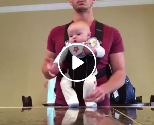 baby was helped by his father to dance to music in living room, Cute baby, baby clothes, cute men, men's fashion clothes, living room furniture