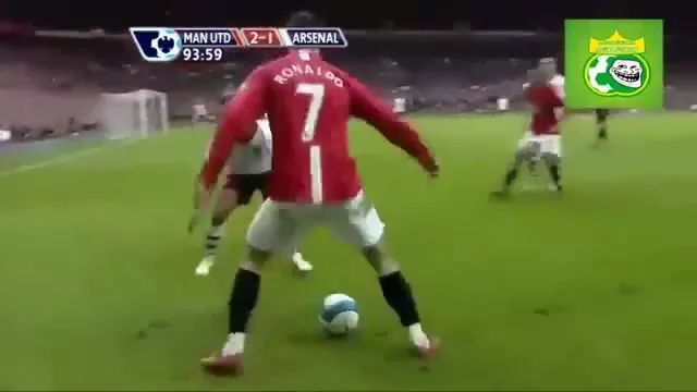 Cristiano ronaldo performs great soccer skills
