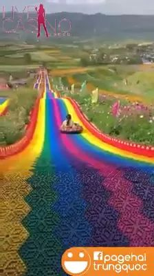 Colorful slides in China