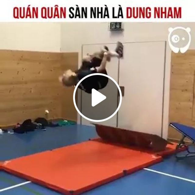 Olympian Is A Champion At Floor Is Lava! - Video & GIFs   talent, performance