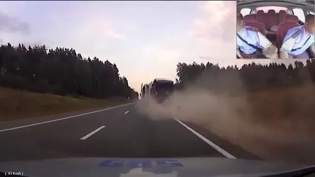 Tractor truck is running very fast on American streets