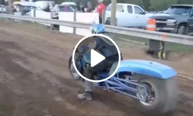Man with sports motorcycle, engine very strong.