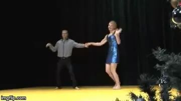 Girl dancing with new movements