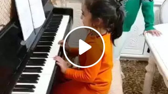 Aiooo Silver!little Girl Playing Piano - Video & GIFs   Baby girl, children's fashion clothes, musical instruments, piano