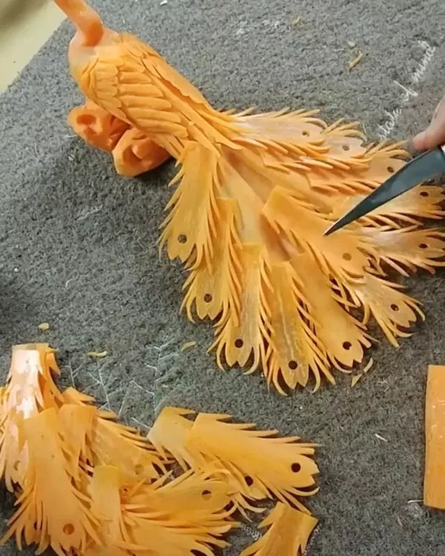 Art trimming decorative fruits for food - Video & GIFs   Delicious food, food decoration, kitchen tools