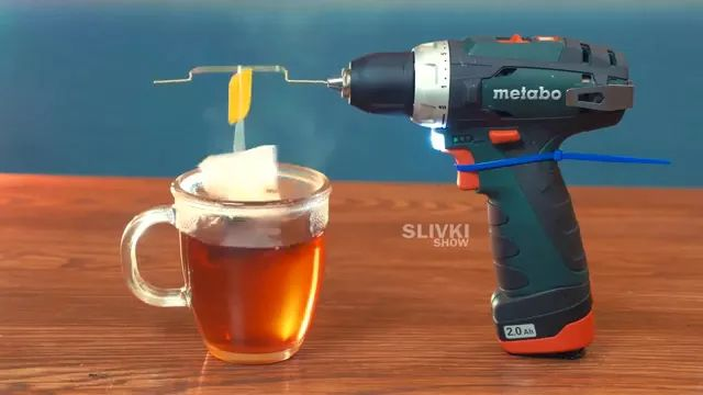 Tea making technology by drilling machine