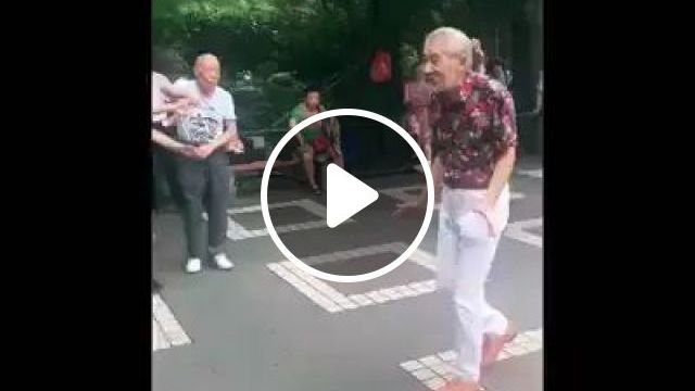 Elderly Fashionable Clothes Dancing In Park To Reduce Stress - Video & GIFs   elderly, fashionable clothes, dancing, in the park, reducing stress, protecting health