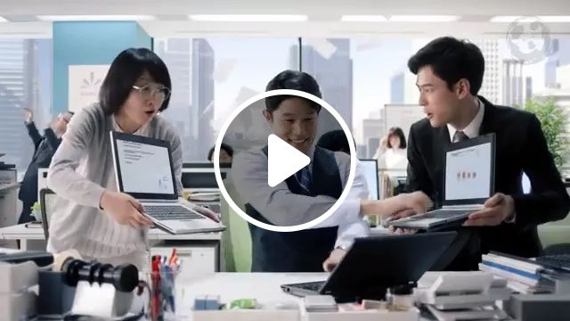Business staff work very hard in office, Sales staff, working very hard, office equipment, office equipment