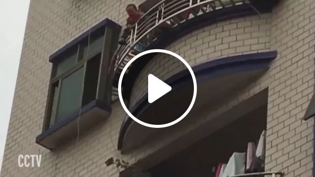 Hero man rescues baby in Chinese street, Hero man, cute baby, Chinese street, luxury vehicles