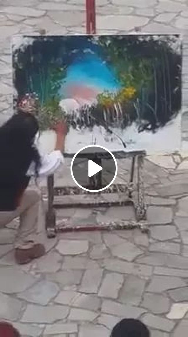 Street painter is painting on American streets, Painter street, painting, American street, America travel