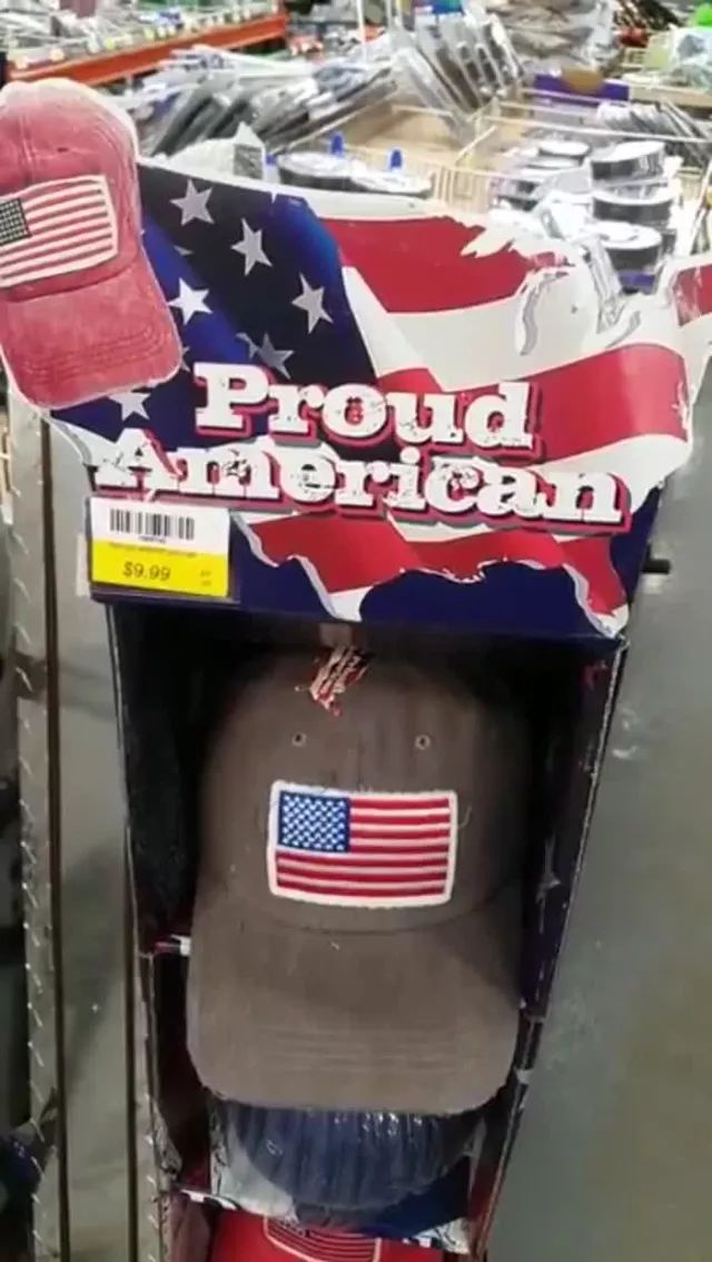 In hat shops, American hats are made in china
