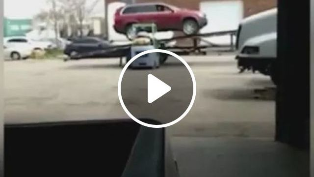 car turned over when moving., luxury cars, luxury vehicle, flipped, moved
