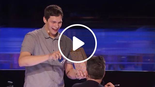 talented man performs rubik on the TV show