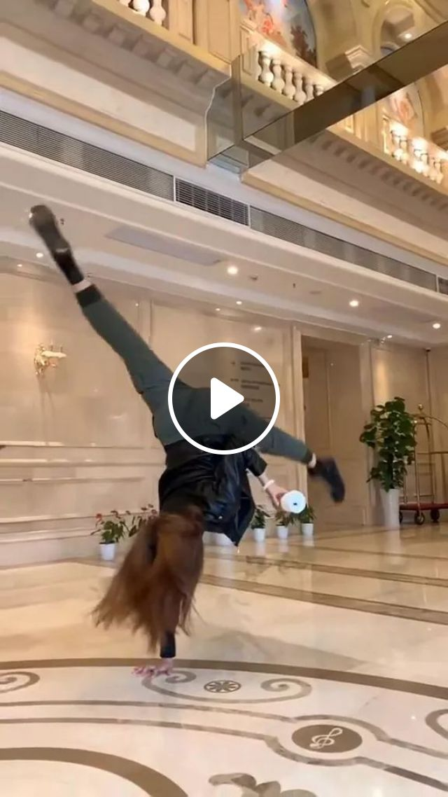 Girl Practicing Yoga In Hotel And Everywhere - Video & GIFs   talented girl, female fashion clothes, yoga, luxury hotel