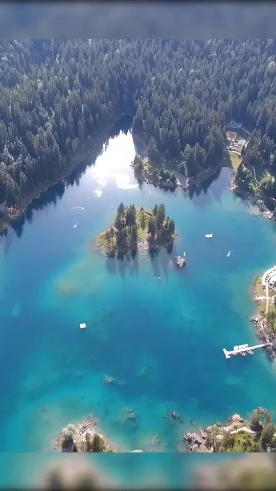 Switzerland has a number of lakes, of which, Caumasee is one - Video & GIFs | switzerland travel,caumasee travel,beautiful scenery