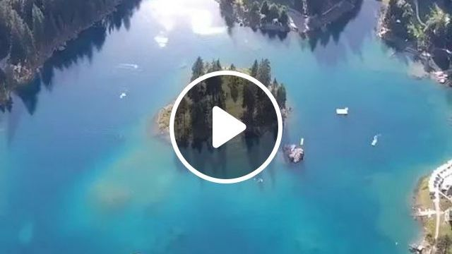 Switzerland Has A Number Of Lakes, Of Which, Caumasee Is One - Video & GIFs | switzerland travel, caumasee travel, beautiful scenery