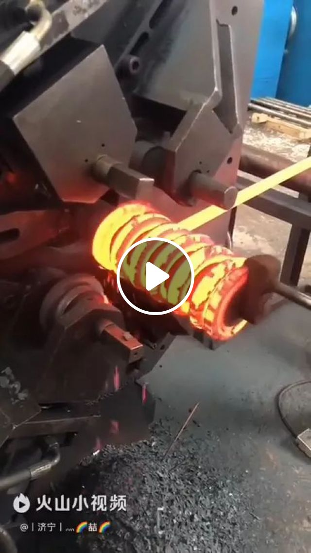 This Spring Is Coiled With Mechanical Machine - Video & GIFs | steel technology, mechanical machines, automatic systems
