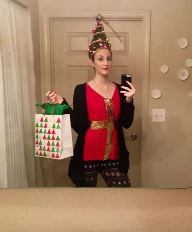 Merry Christmas! I spent an hour this morning turning my hair into a Christmas tree for a costume contest at work. I have no shame.