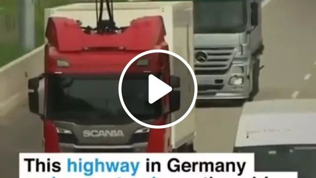 Germany Travel, Germany's Rechargeable Truck System - Video & GIFs   reddit, insanetechnology, germanys_rechargeable_truck_system