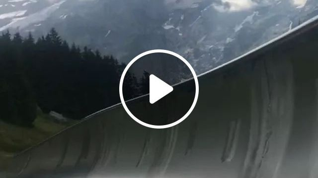 After Seeing A Video On YouTube, My Wife Promised She'd Take Me To An Alpine Slide In Switzerland One Day. Today We Rode One In Kandersteg, Switzerland! It Was Only $5/ride. - Video & GIFs | reddit, travel, after_seeing_a_video_on_youtube_my_wife_promised