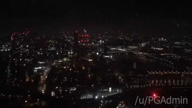 England travel, Early morning time lapse of London, as seen from the 43rd floor of The Shard (In the Shangri-La Hotel). Excuse the quality.