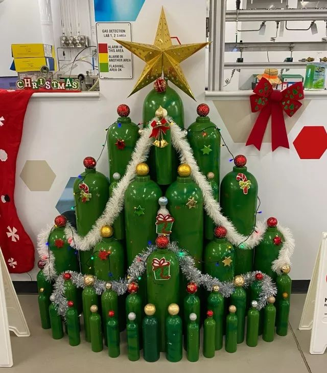 I work for a gas company. This is our Christmas tree this year.