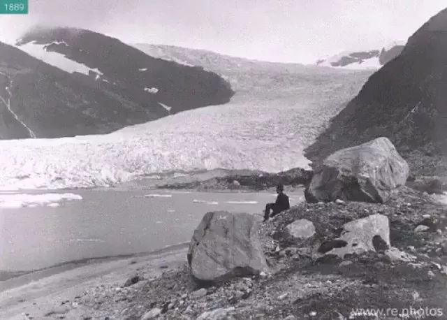 Norway travel, Engabreen Glacier in Norway in 1889 and again in 2010