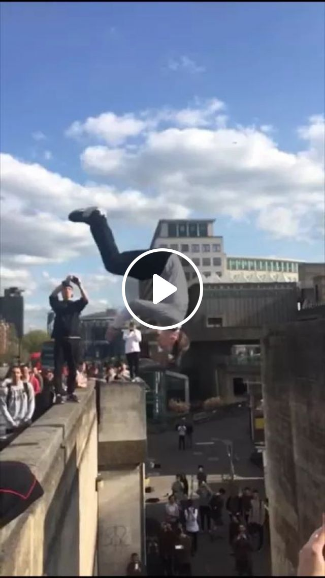 Smartphone Records Scene Of A Man Jumping Over Two Buildings - Video & GIFs | Smartphone, recorder, scene, man, male fashion, building