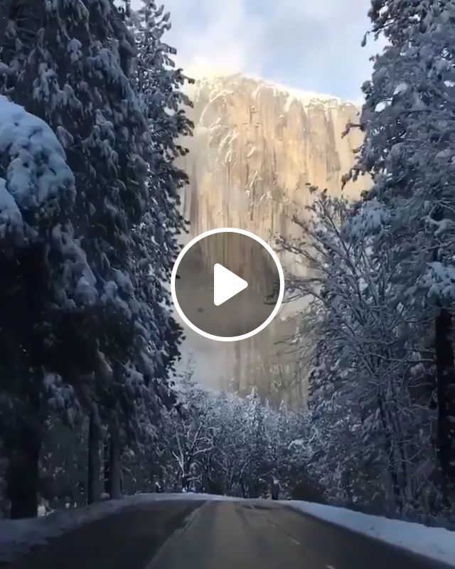 Winter In Yosemite National Park Is Simply Breathtaking - Video & GIFs | snow, nature, winter, American travel, california travel, mountain forest