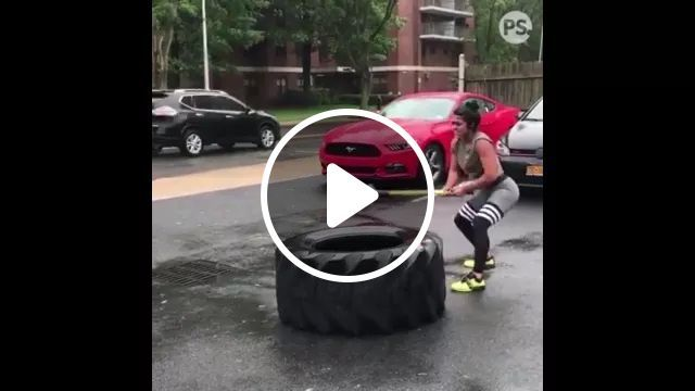 Healthy girl and wheel on American street, Healthy girls, sports clothes, wheels, American streets, Luxury vehicles
