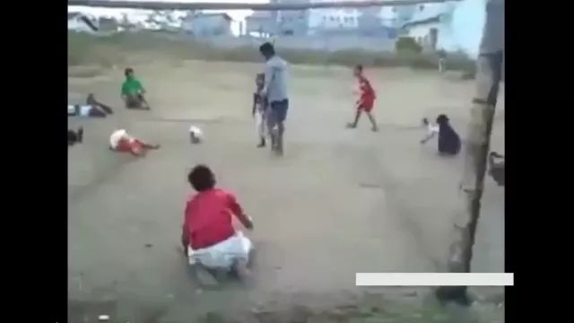 Kids playing ball on the field