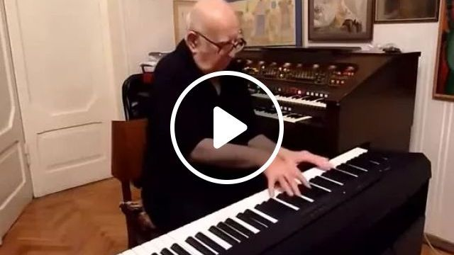 Granddad Plays Piano, Melody Sounds Great - Video & GIFs | Granddad, elderly fashion, piano, melody, very good listening, performances