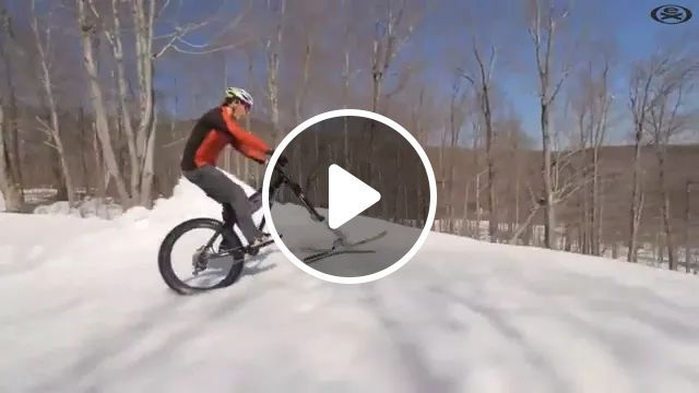 bike is combined with skiing running at high speed, Bike, combination, skiing, high speed