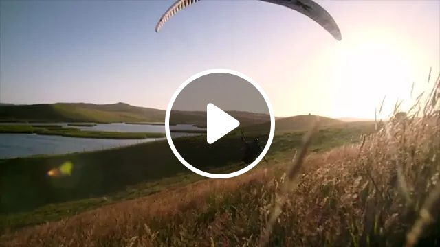 Paragliding in valley, travel