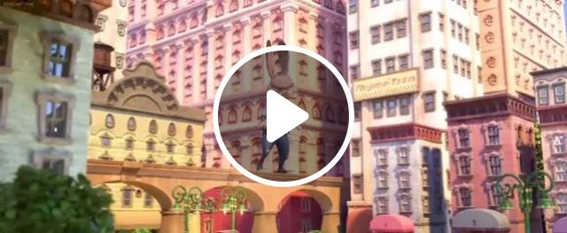 giant cartoon rabbit in city of mouse, giant, cartoon, rabbit, city, train, mouse
