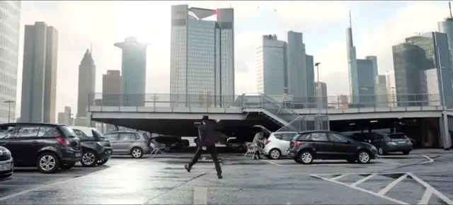 Dancing man in modern city with luxury buildings and vehicles on the street - Video & GIFs | Man, fashion vest, male fashion, dancing, in modern city, buildings, luxury street vehicles