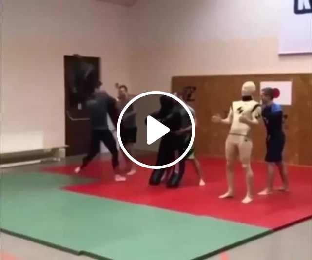 A Man Is Practicing Martial Arts - Video & GIFs | male, training, martial arts, sports, martial arts tools, sports mattresses