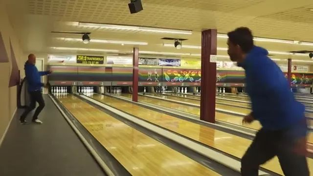 talented man plays bowling ball - Video & GIFs   Talented men, men's fashion clothes, sports shoes, bowling