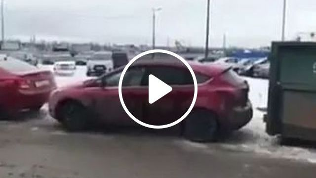 Girl Tried To Move Car In Parking Lot. - Video & GIFs   Smart girls, women's fashion clothes, fashionable shoes, luxury cars, car parks.
