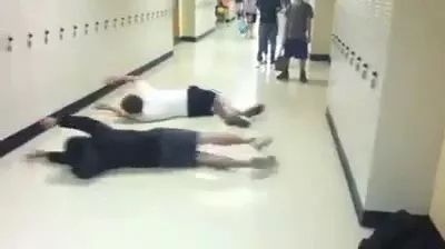 Two students are happy to go to school - Video & GIFs | students, very happy, school, uniforms, student lockers, school lockers