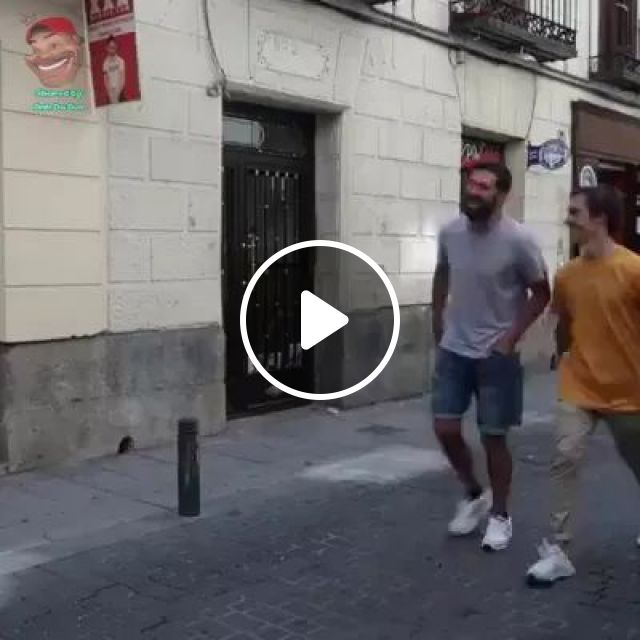 A Man Asked His Friend To Take A Picture With His Smartphone On The American Street - Video & GIFs   Poor man, male fashion, photography, smartphone, American street